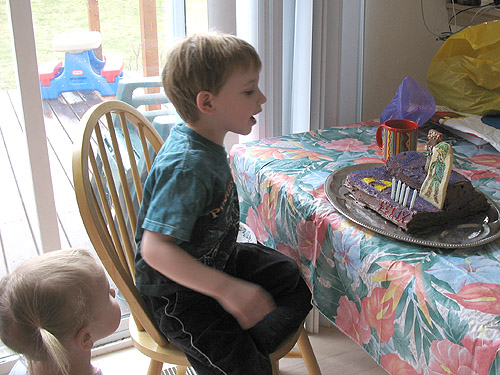 Felix with his cake